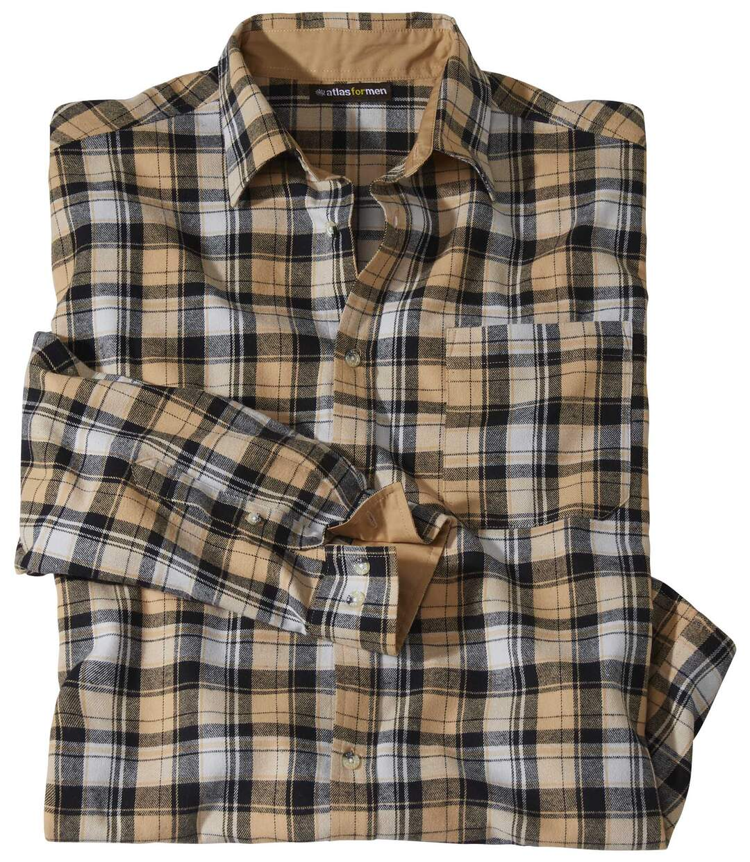 Kockovaná flanelová košeľa Camel Atlas For Men