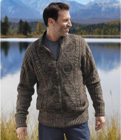 Hřejivý pletený svetr s podšívkou