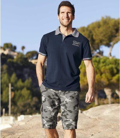 Men's Grey Camouflage Cargo Shorts