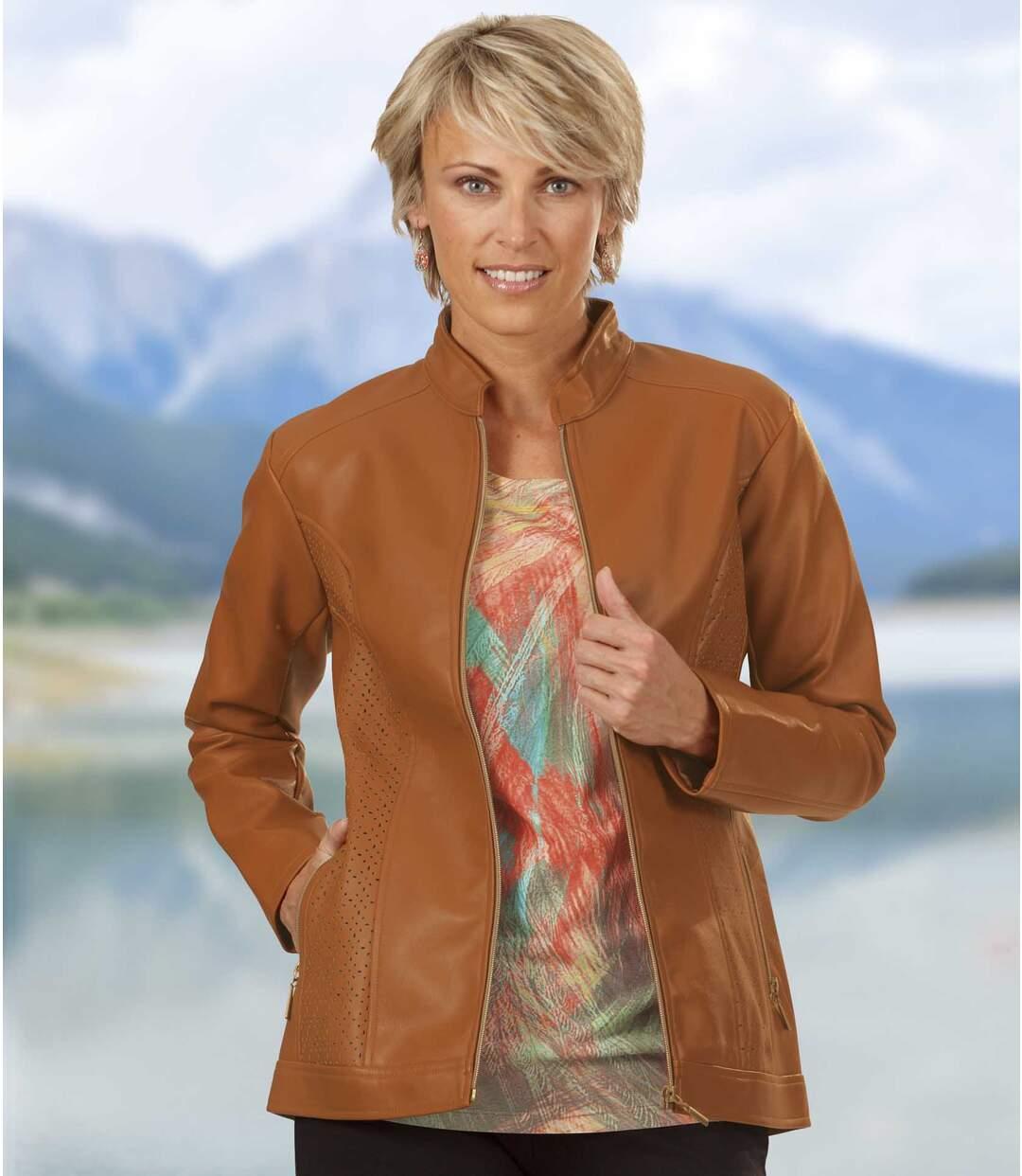 Modische Jacke aus Kunstleder