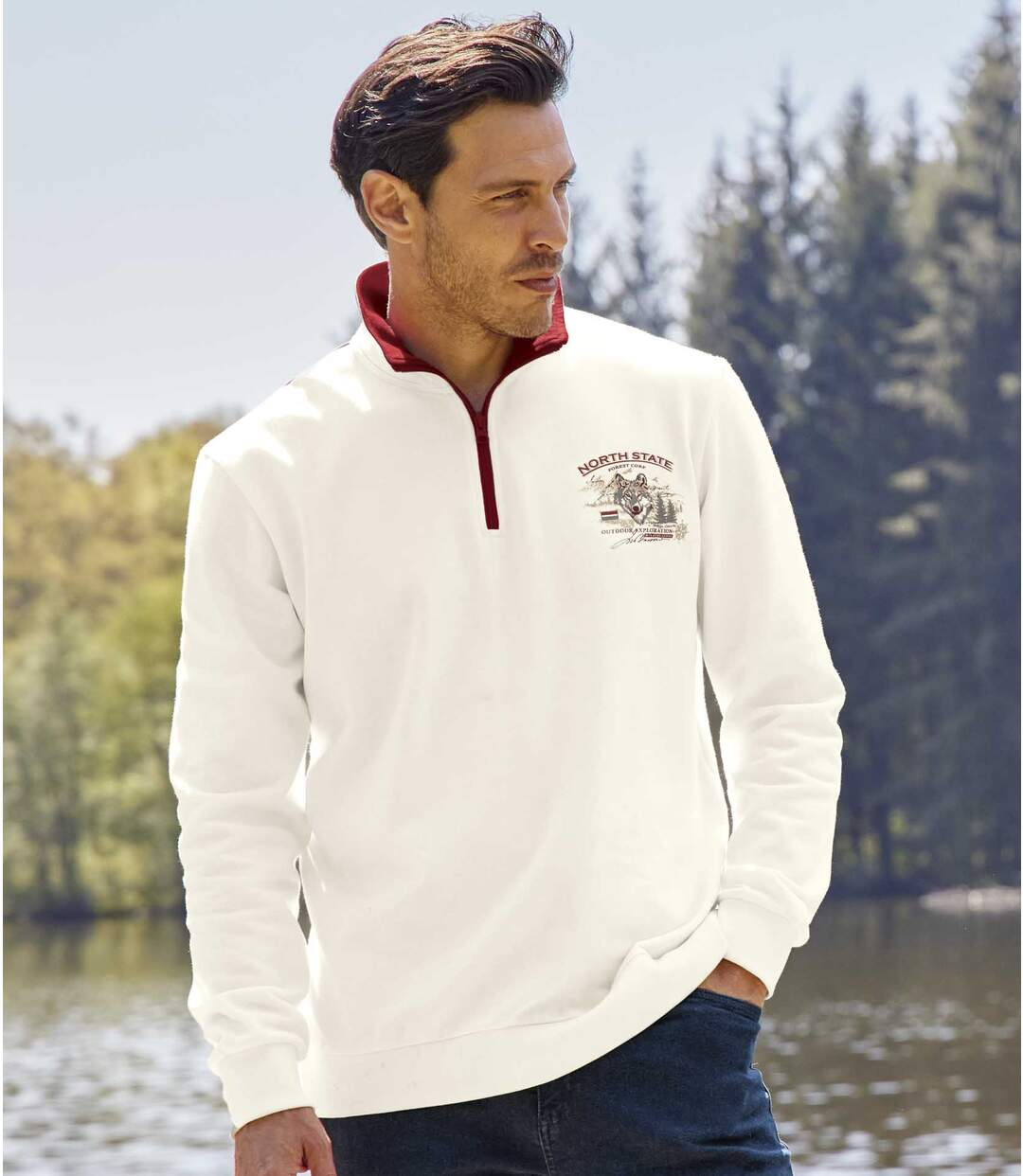 Sweater met ritskraag  Atlas For Men