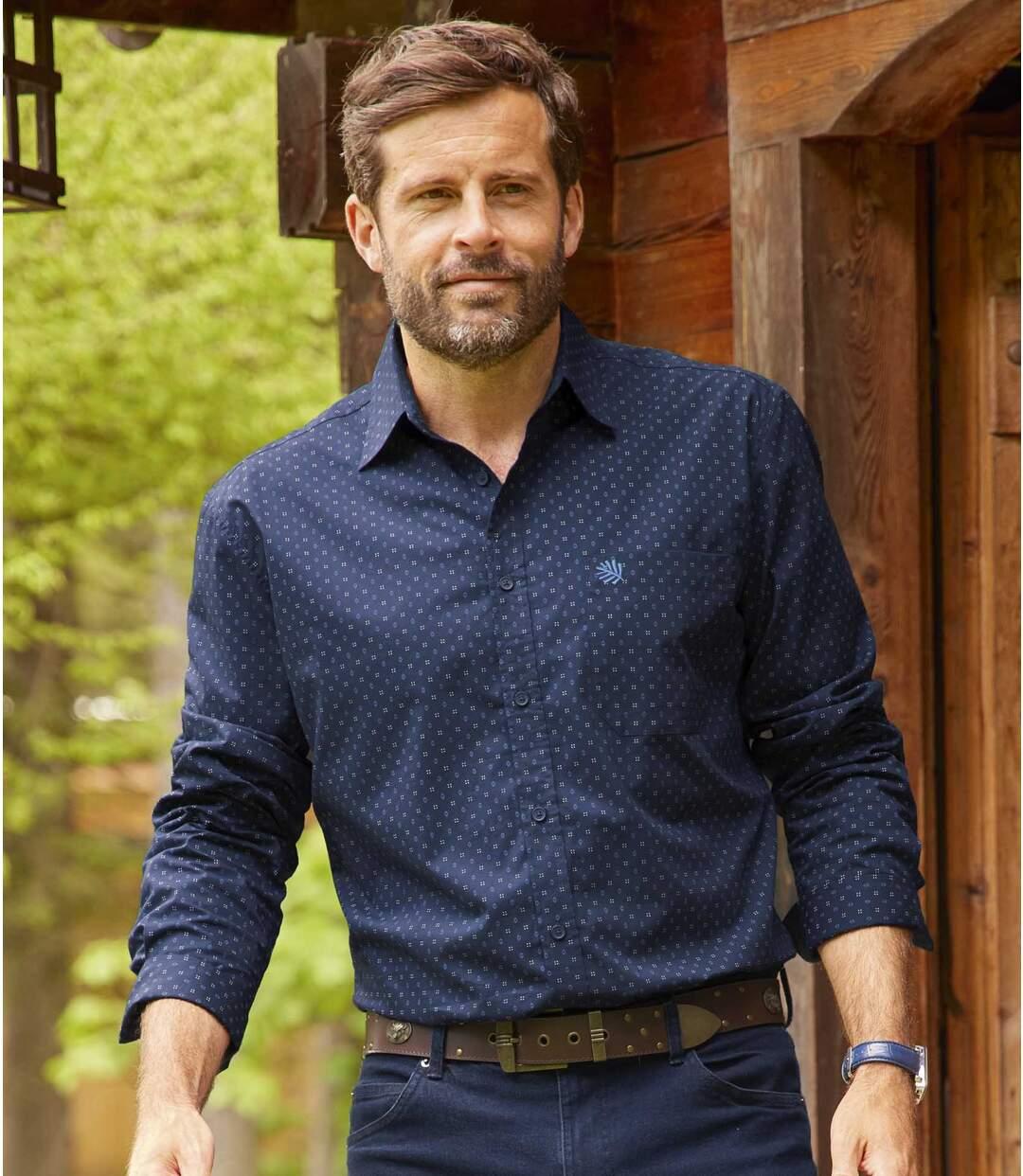 Mooi overhemd van popeline  Atlas For Men
