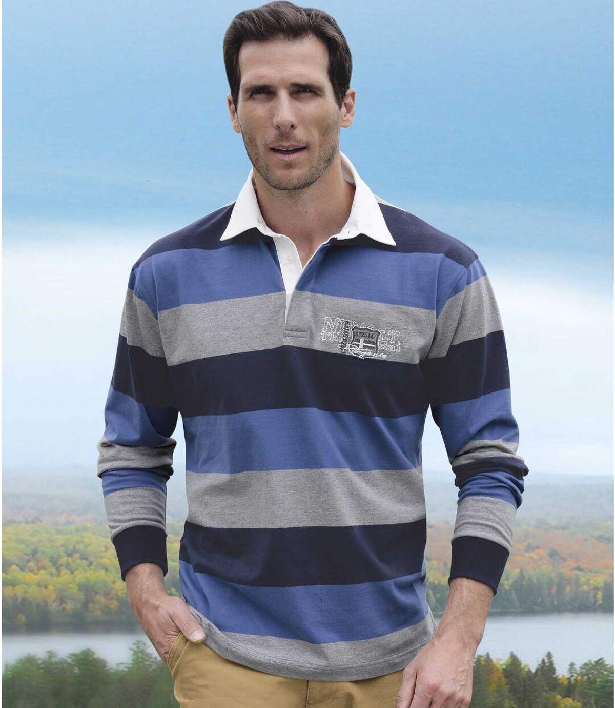 Pruhované polo tričko Rugby Atlas For Men