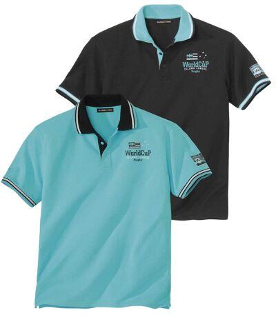 Zestaw 2 koszulek polo z dzianiny pika Island League