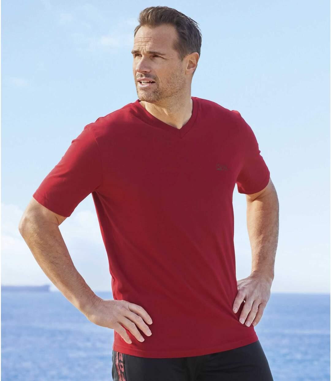 Sada 4 triček Hampton Beach s výstřihem do V