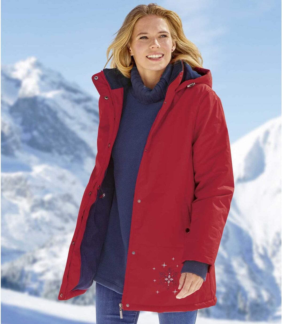 Veste de Ski Doublée Polaire à Capuche   Atlas For Men