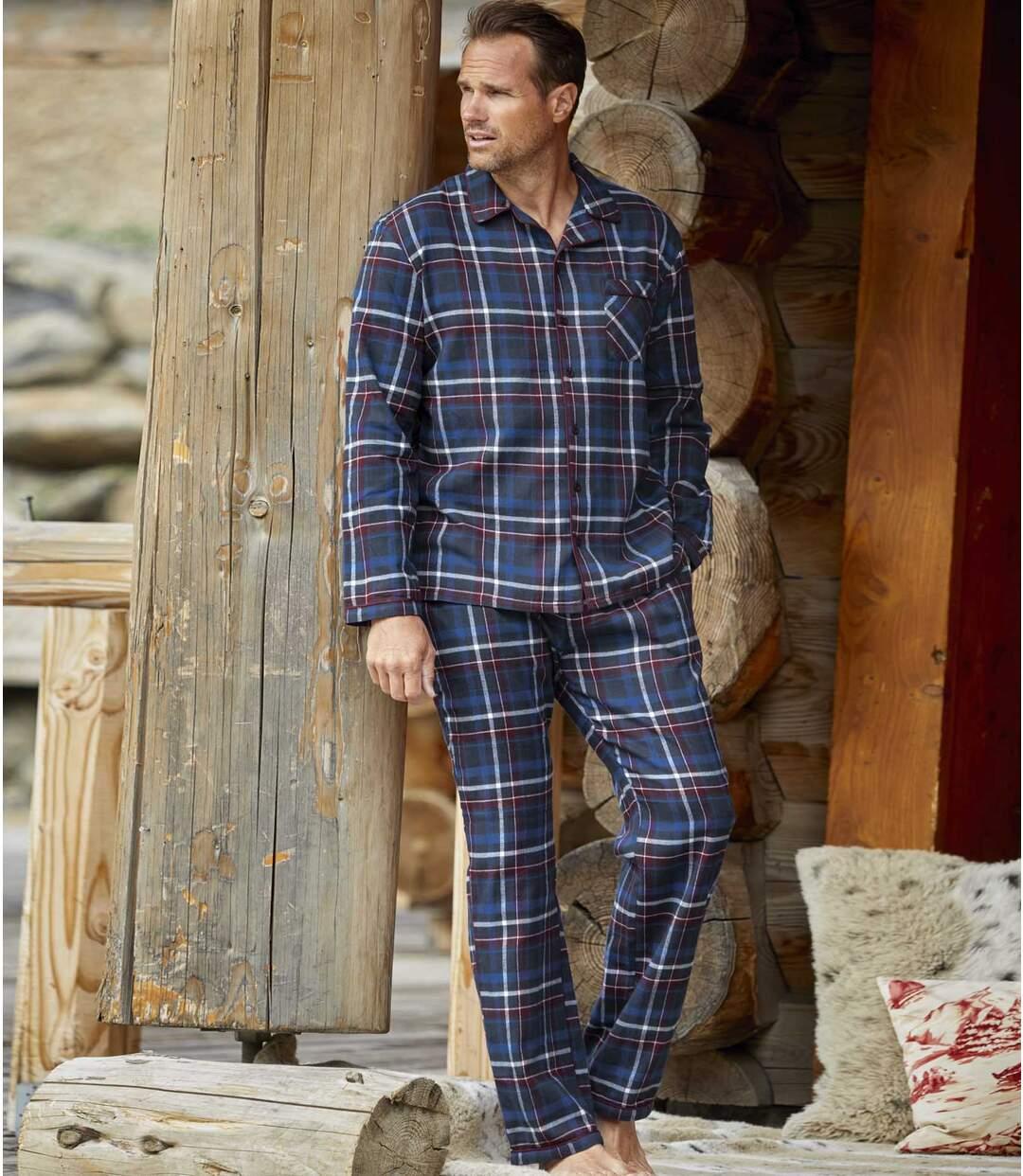 Karierter Flanell-Pyjama Smart Comfort