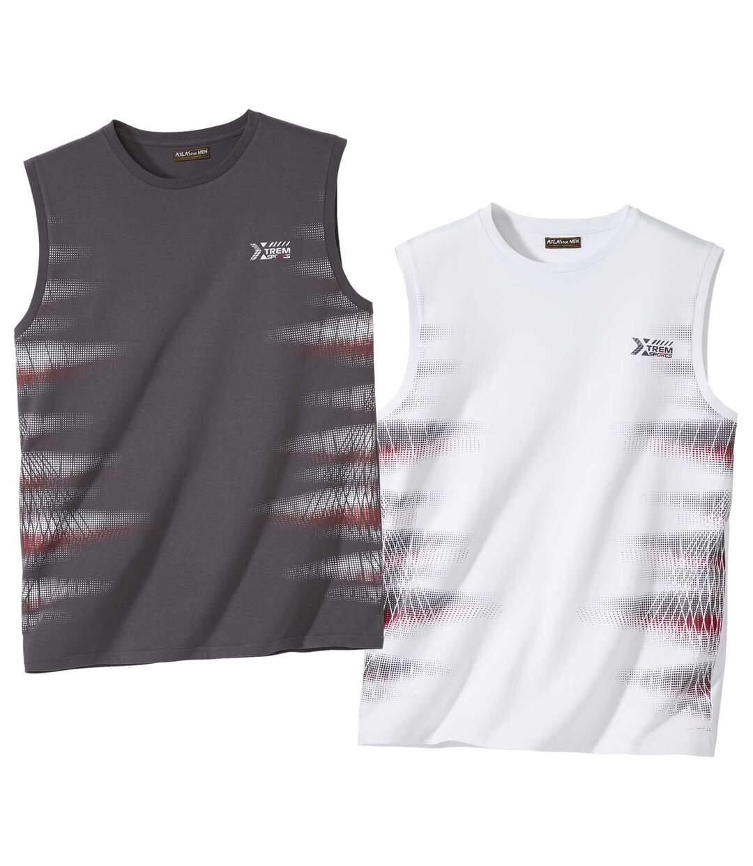 Zestaw 2 t-shirtów bez rękawów
