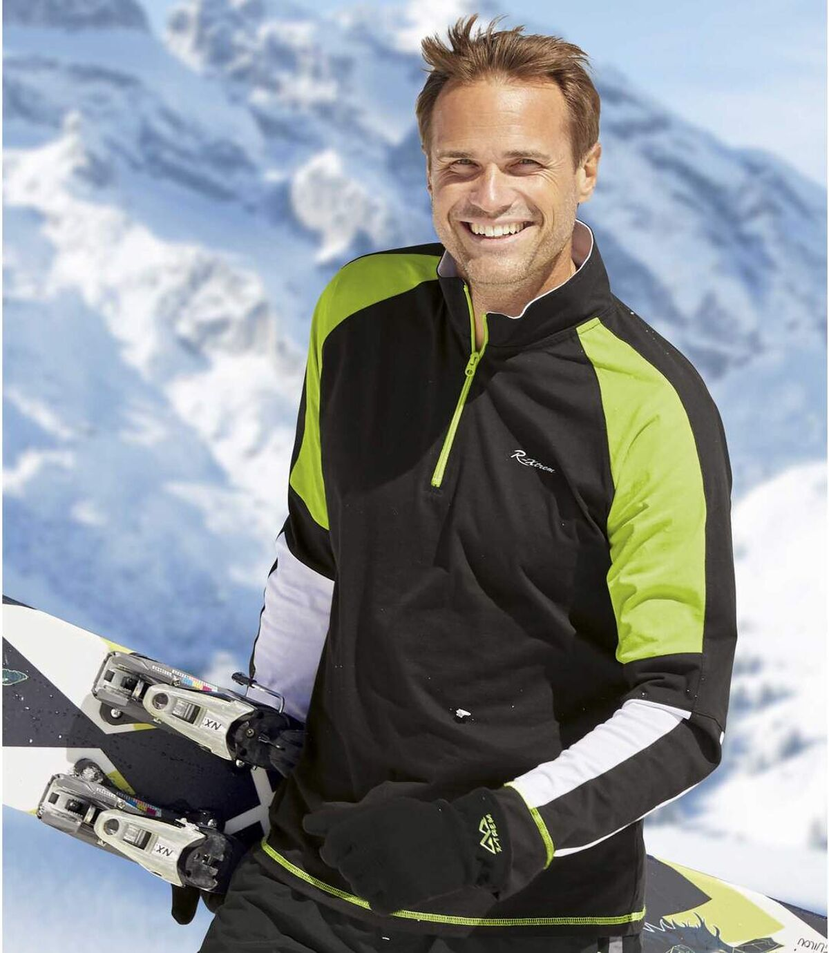 2er-Pack Poloshirts Sport mit RV-Kragen Atlas For Men