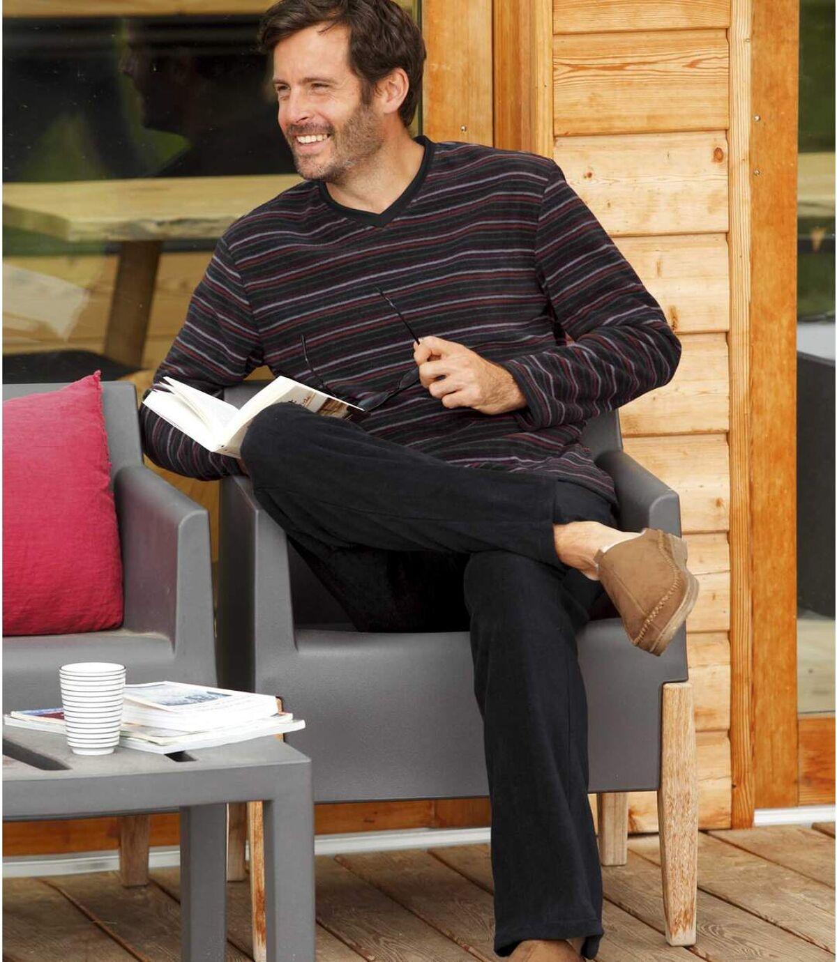Pohodlné flísové pyžamo Atlas For Men
