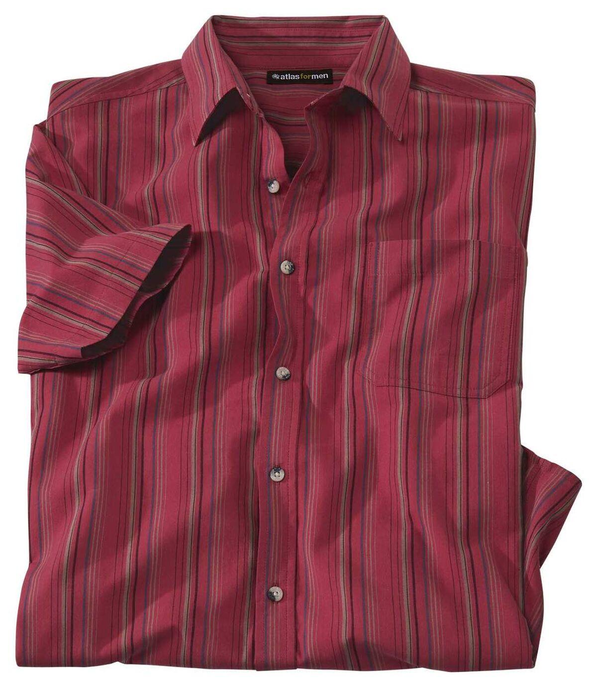 Červená košile s krátkým rukávem Atlas For Men