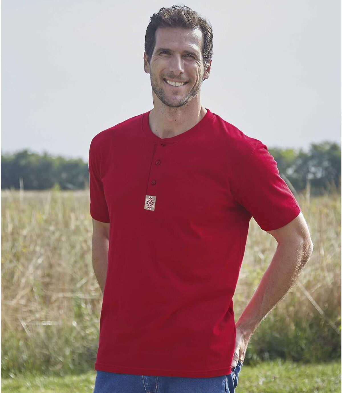 Set van 3 Mythic Raid T-shirts met Tunesische kraag Atlas For Men
