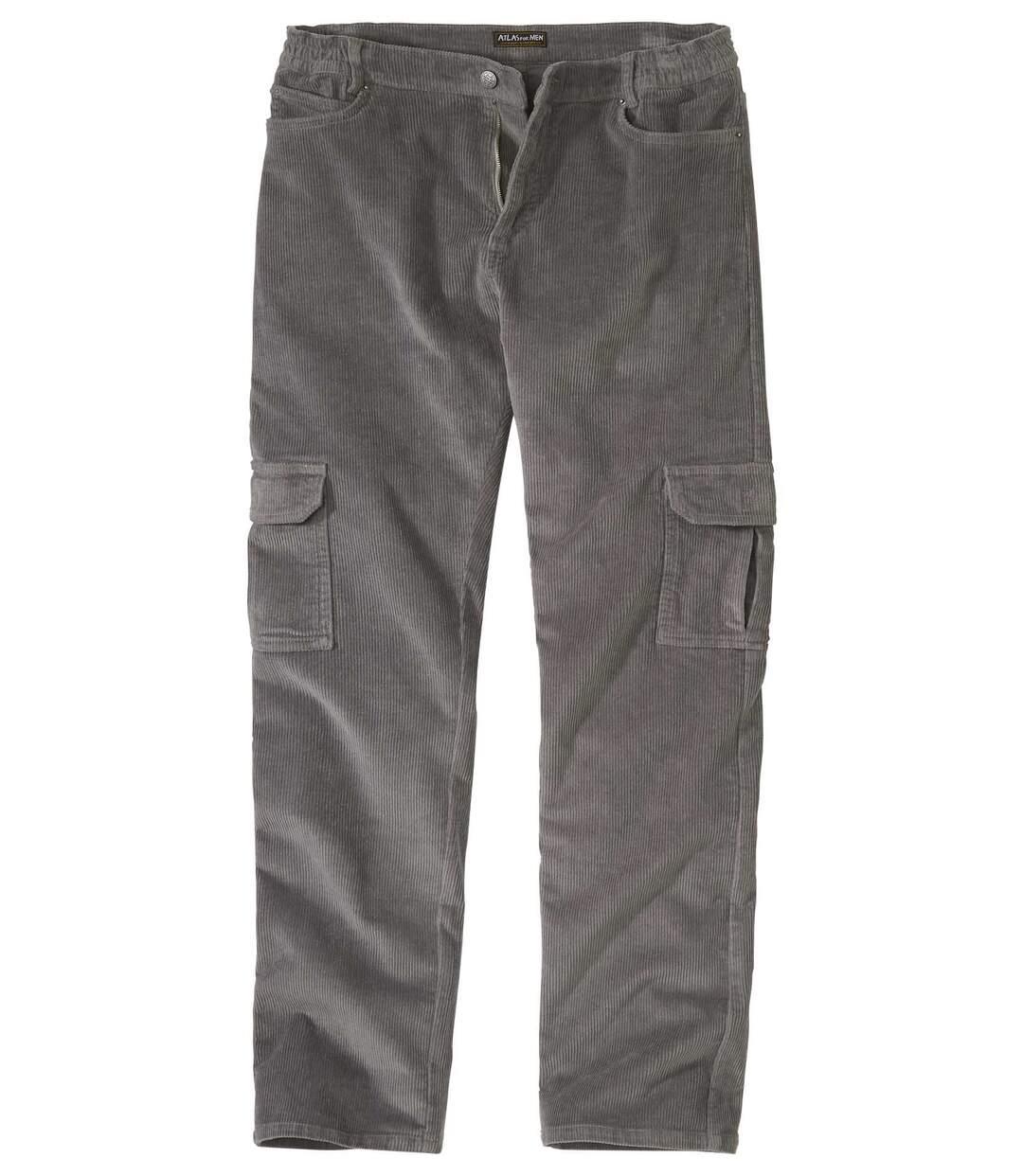 Pantalon Cargo en Velours Stretch