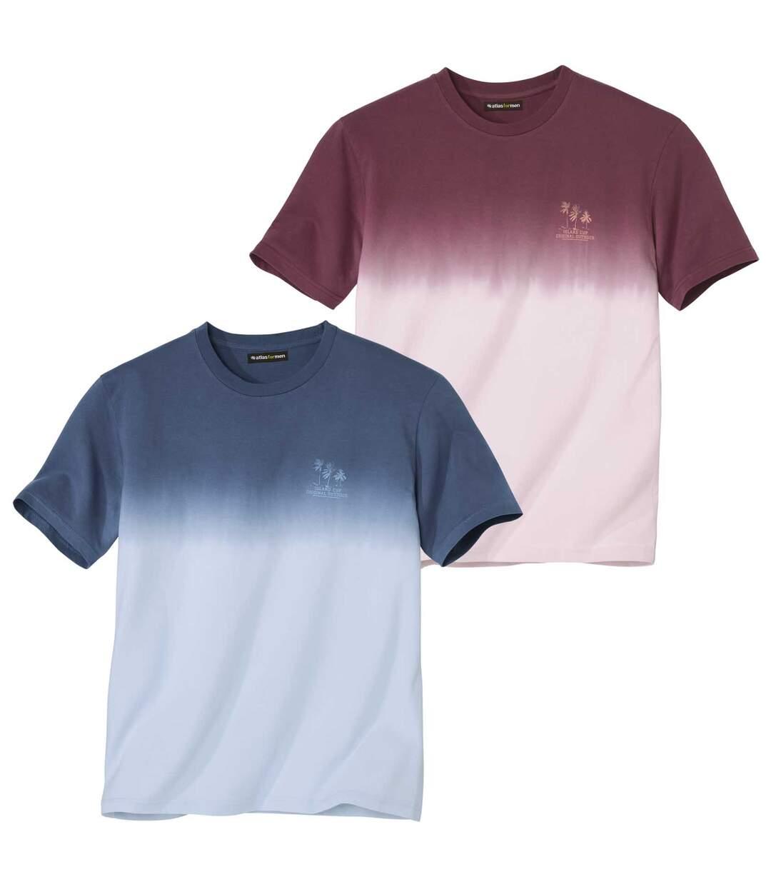 Set van 2 tie-dye T-shirts Sunset