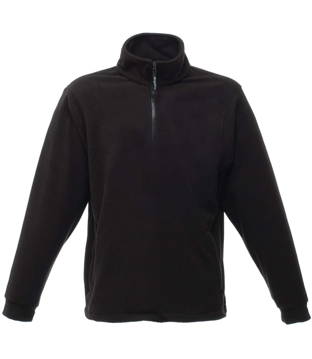 Regatta Mens Thor Overhead Anti-Pill Fleece Top (Black) - UTRW1196