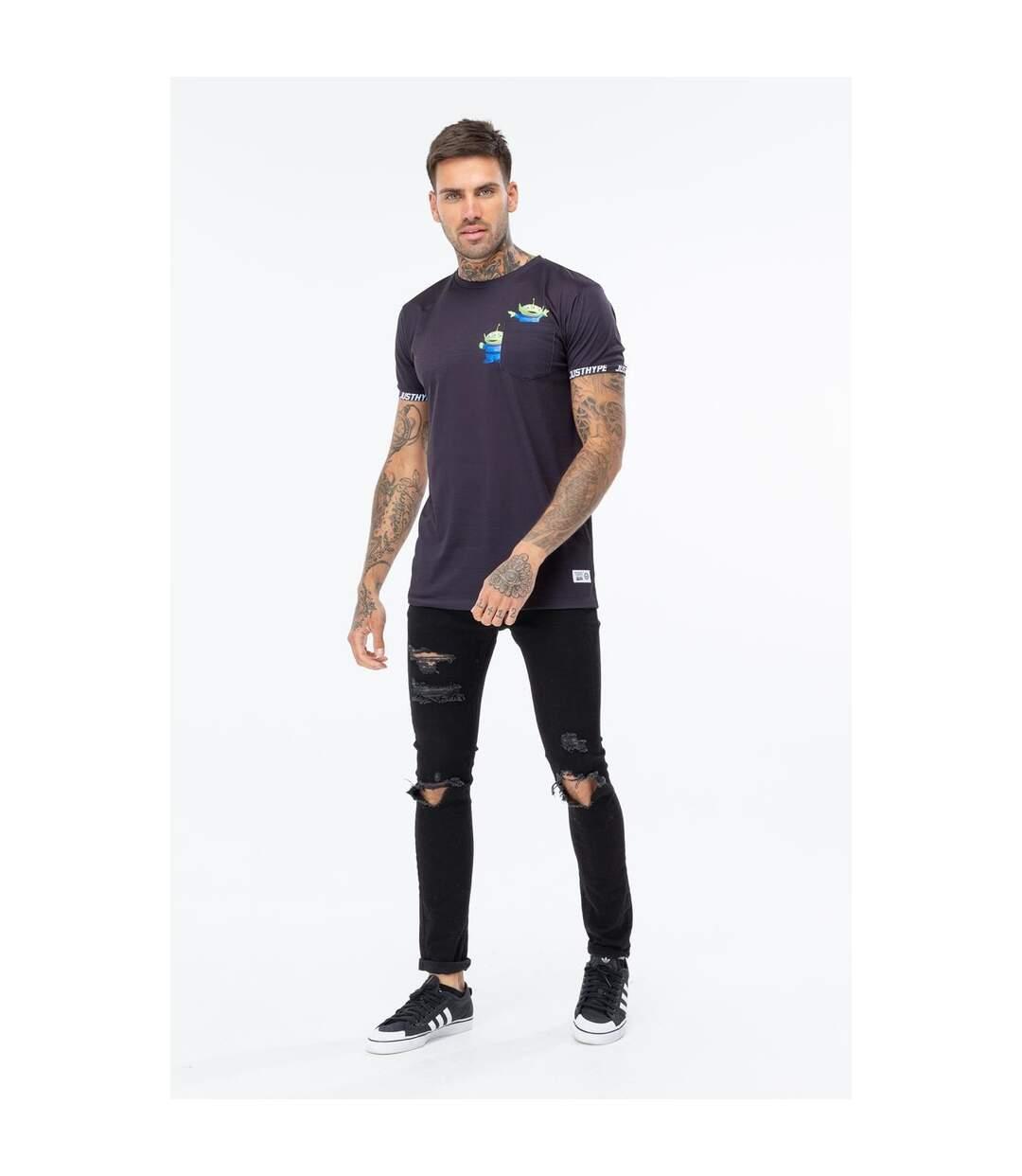 Hype Toy Story Mens Aliens Pocket T-Shirt (Black) - UTHY758