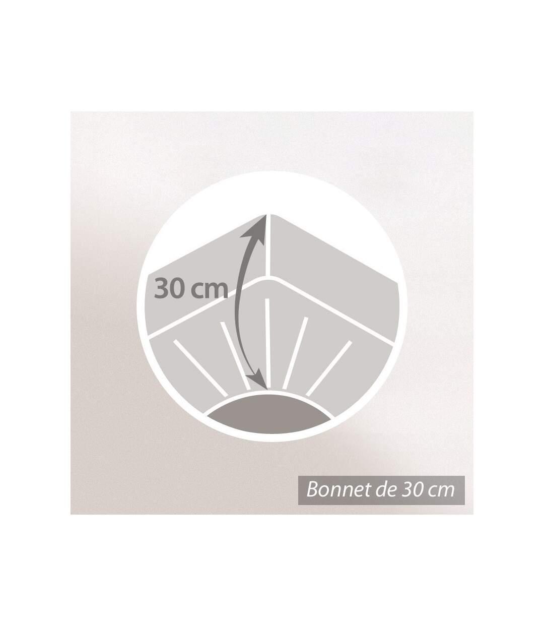 Protège matelas imperméable Antony blanc 110x190 Bonnet 30 cm
