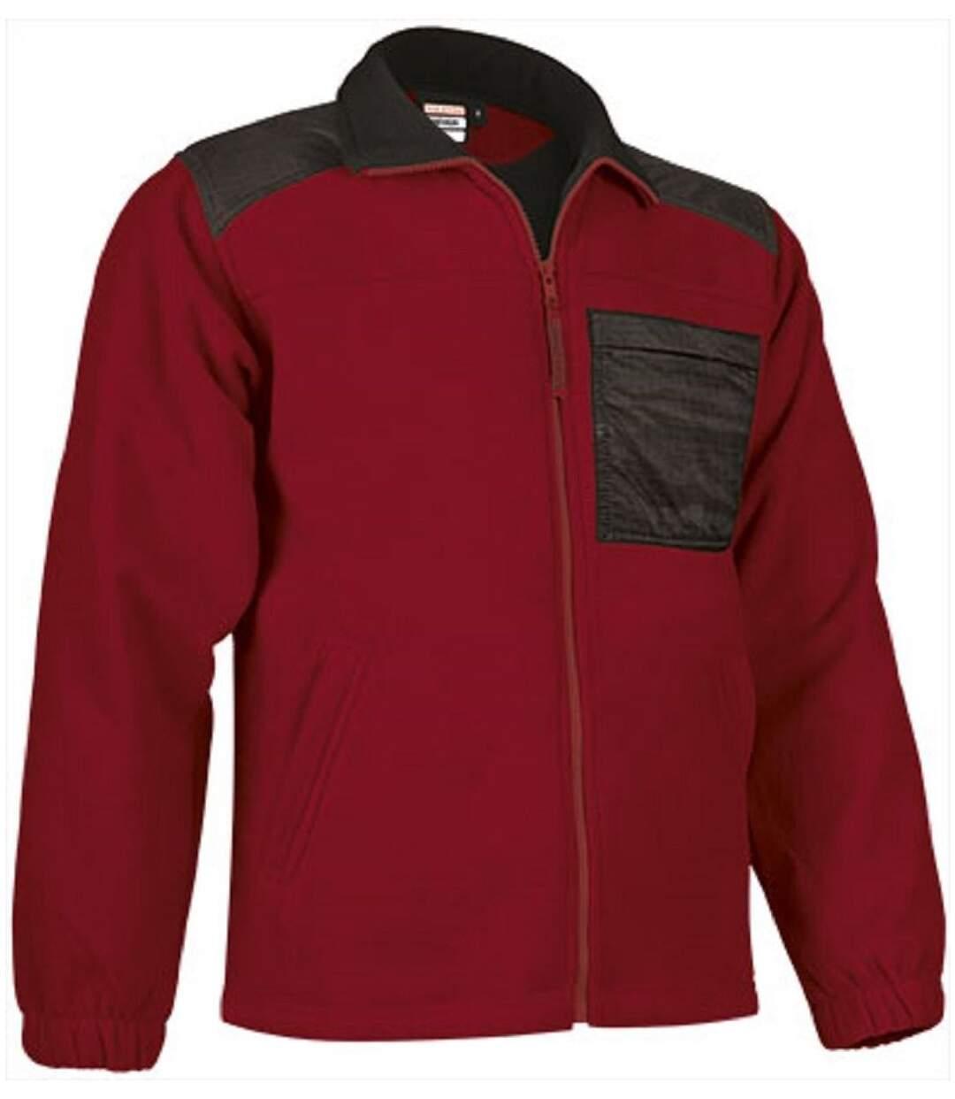 Veste polaire zippée - Homme - REF NEVADA - rouge