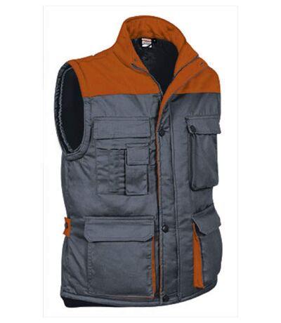 Veste de travail sans manches - Homme - REF THUNDER - grey orange