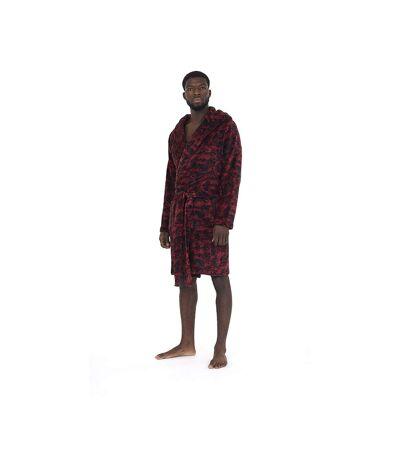 Brave Soul Mens Camo Dressing Gown (Wine Camo) - UTUT725