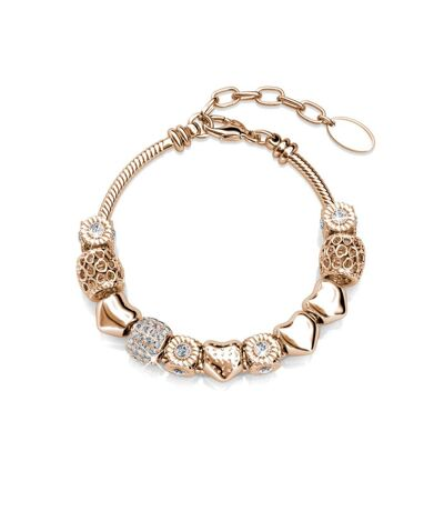Bracelet Radiant Charm - Or Rosé et Cristal