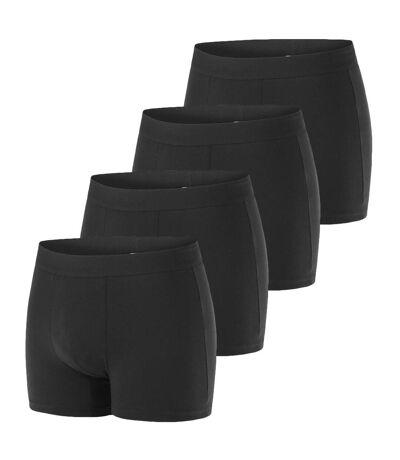 Lot de 4 Boxers homme en coton bio My Essential Noir