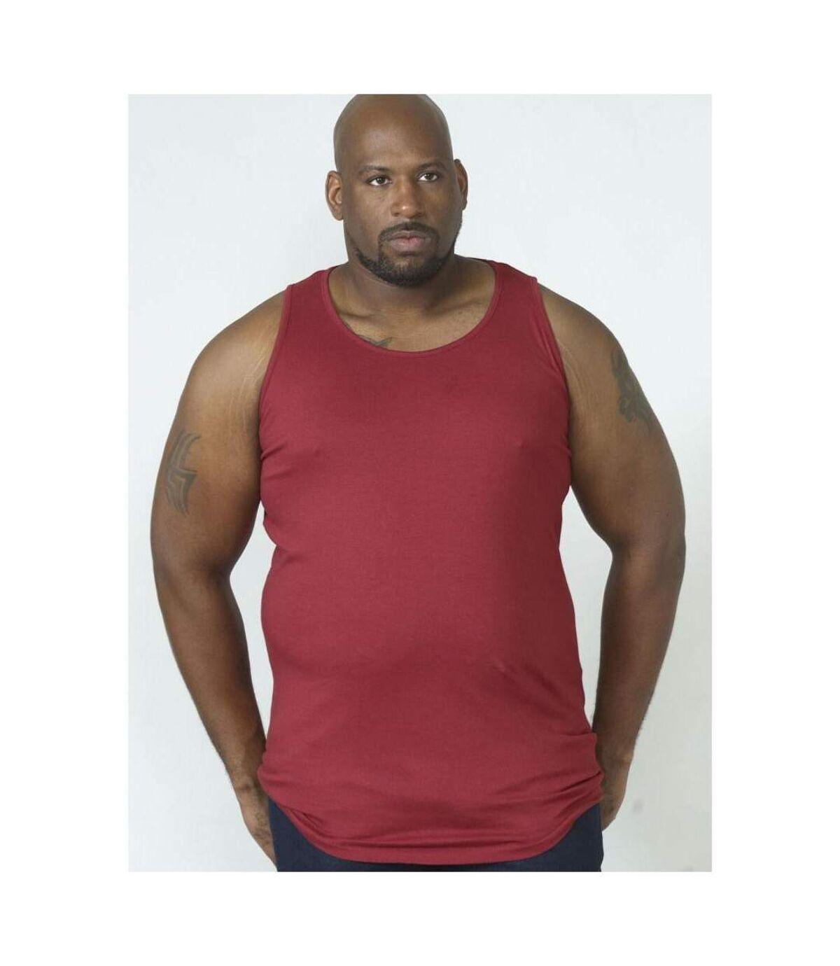 Duke Mens Fabio-2 Muscle Vest (Red) - UTDC168