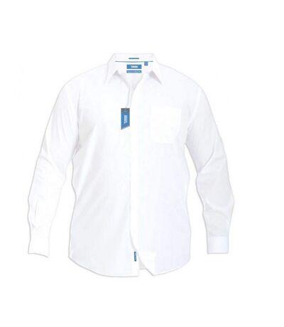 Duke Mens Aiden Kingsize Long Sleeve Classic Regular Shirt (White) - UTDC197
