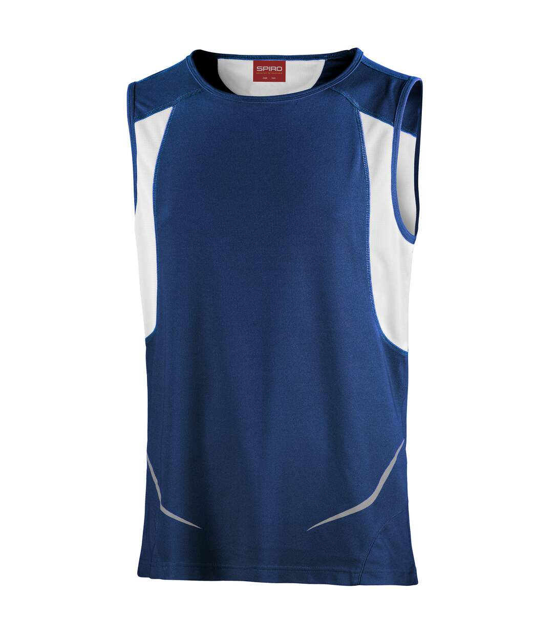 Spiro Mens Sports Athletic Vest Top (Navy/White) - UTRW1480