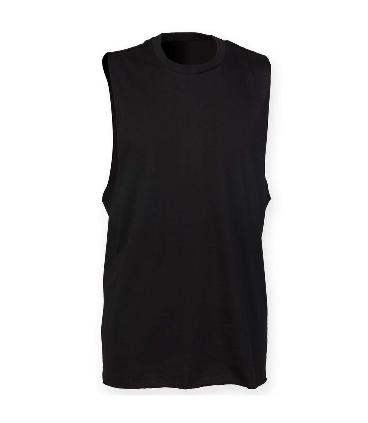 Skinnifit Mens High Neck Slash Armhole Vest (Black) - UTRW4739