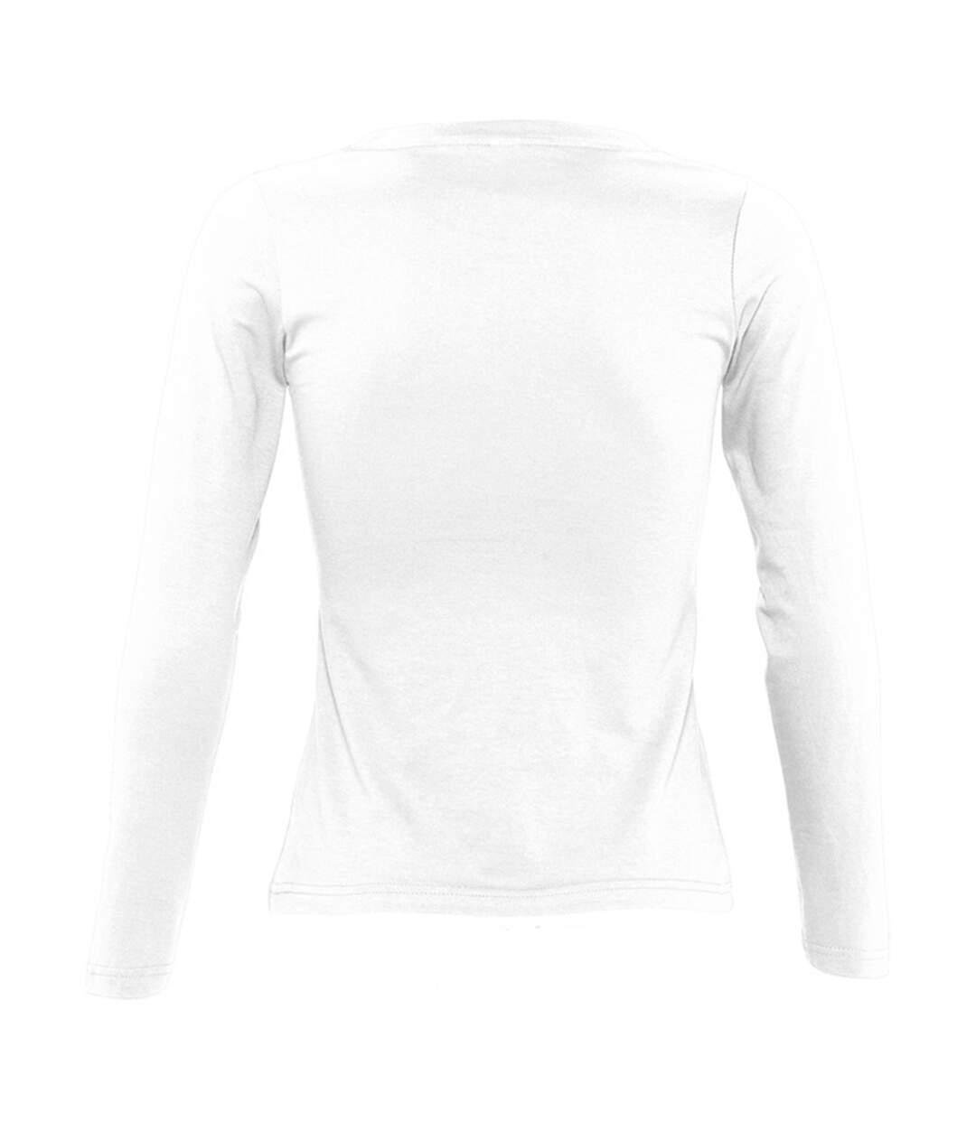 Sols Majestic - T-Shirt À Manches Longues - Femme (Blanc) - UTPC314