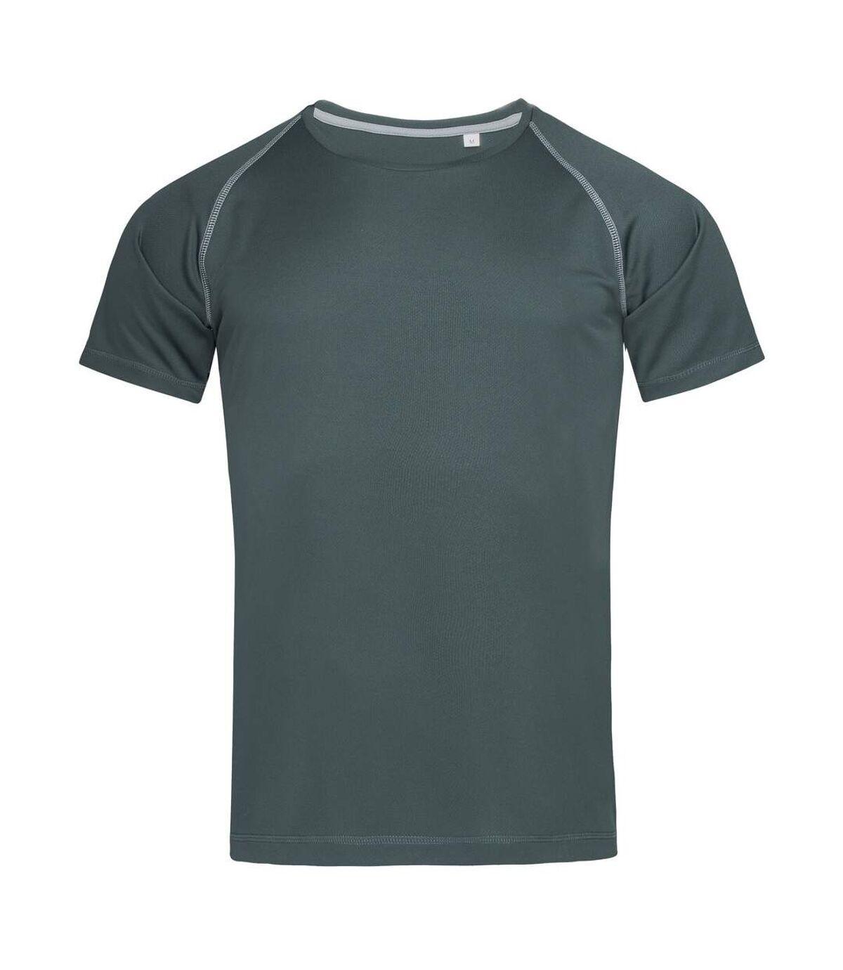 Stedman Mens Active Raglan T-Shirt (Granite Grey) - UTAB459