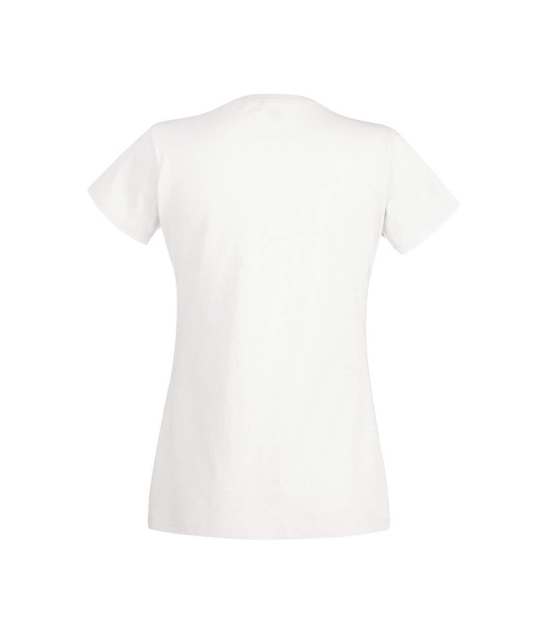 Dégagement Fruit Of The Loom T-Shirt À Manches Courtes Femme Blanc UTBC1361 dsf.d455nksdKLFHG