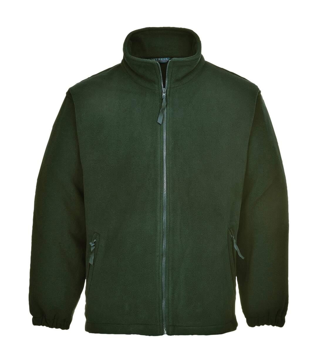 Portwest Mens Aran Full Zip Fleece Top (Bottle) - UTRW4363