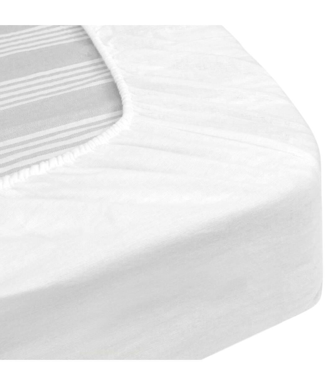 Protège matelas imperméable 160x190 cm bonnet 30cm ARNON molleton 100% coton contrecollé polyuréthane