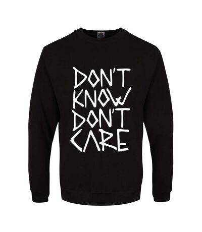 Grindstore Mens Don`t Know Don`t Care Sweater (Black) - UTGR1926