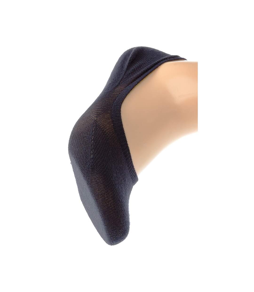 Dégagement Chaussette Protège-pieds 1 paire Sans bouclette Fine Coolmax Bleu marine Protège-bas uni coolmax dsf.d455nksdKLFHG
