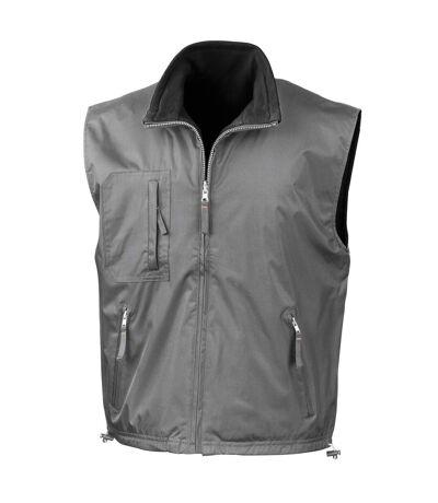 Result Mens Reversible Polar-Therm® Bodywarmer / Gilet (Slate Grey/ Black) - UTRW3231