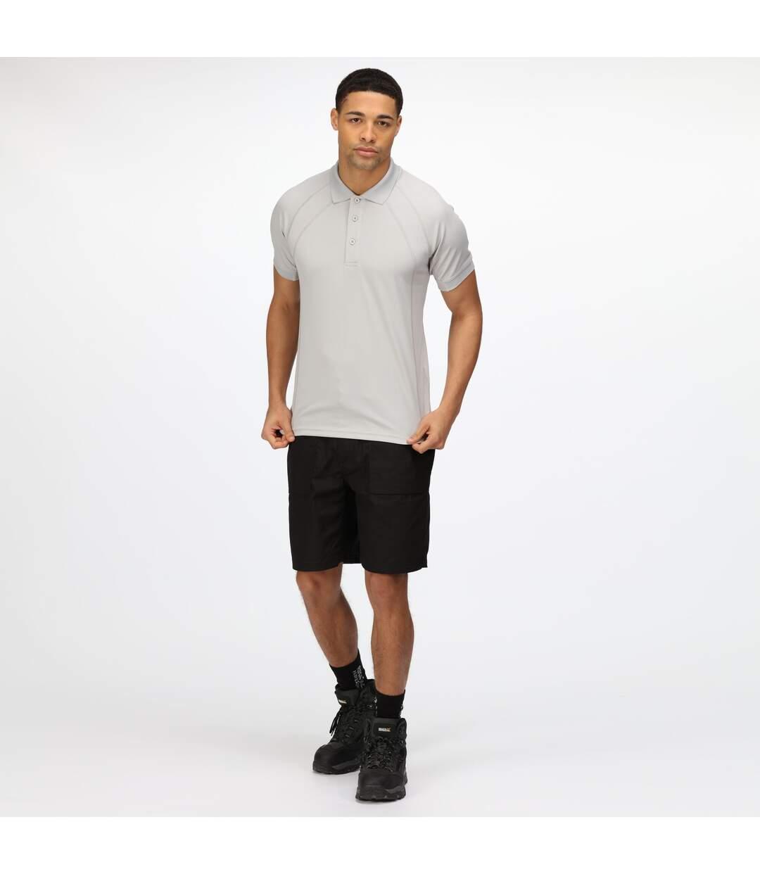 Regatta Hardwear Mens Coolweave Short Sleeve Polo Shirt (Silver Grey) - UTRW4606