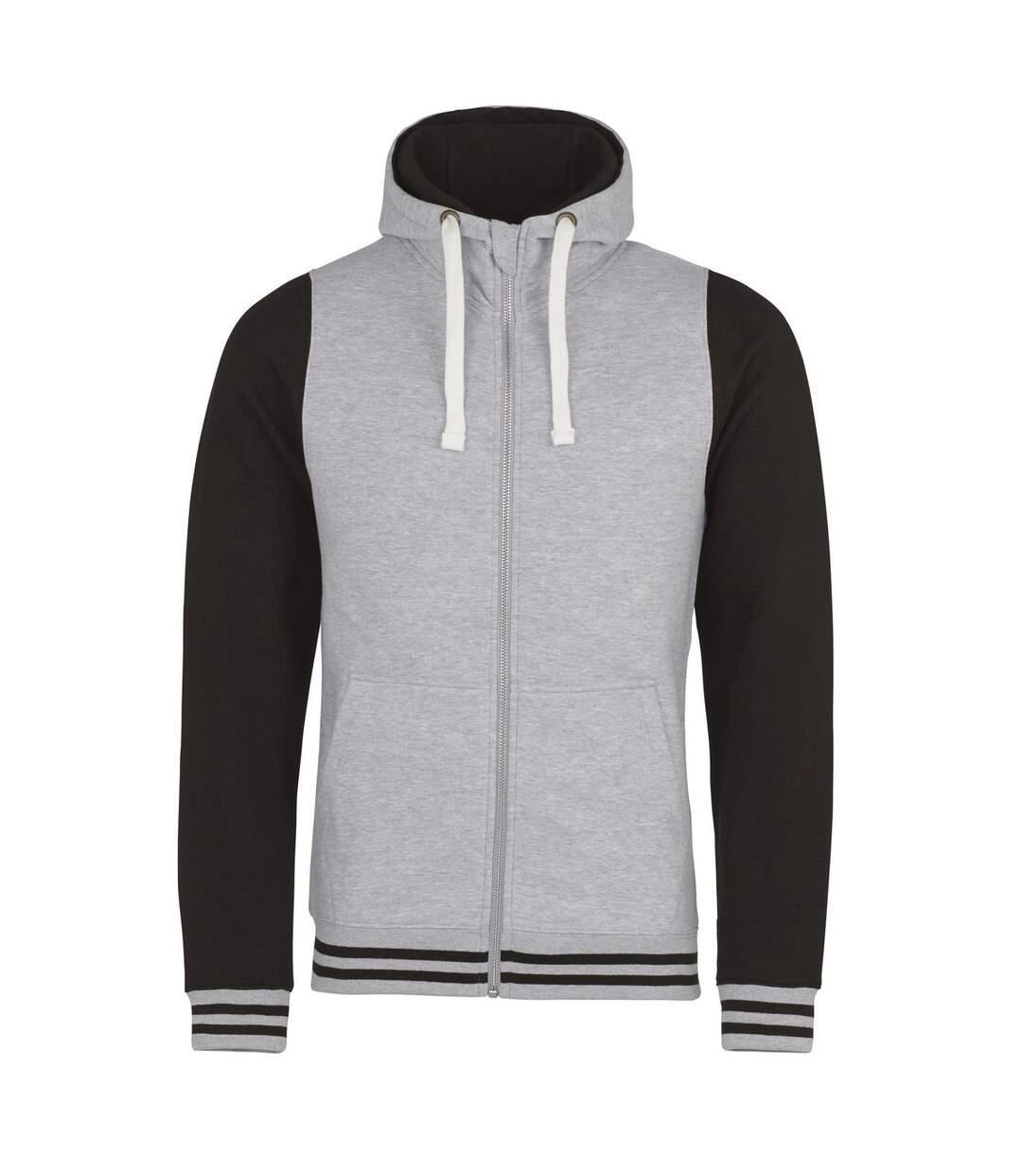 Sweat-shirt zippé à capuche - homme - JH051 - gris clair