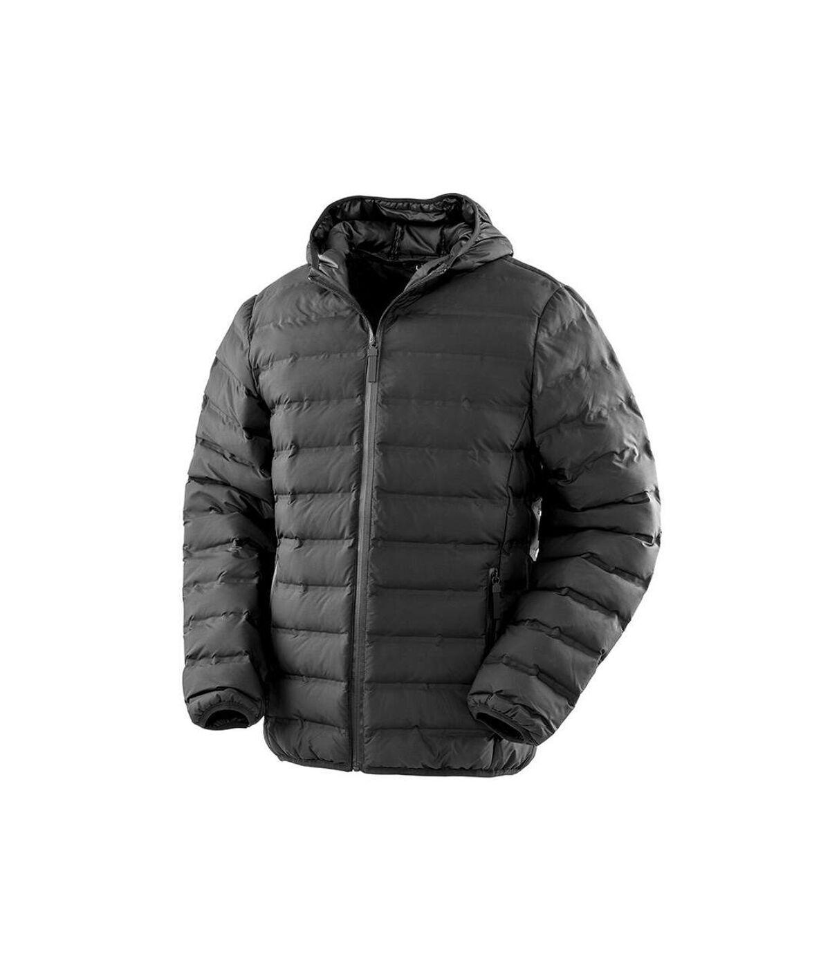 Result Urban Mens Hooded Ultrasonic Jacket (Black) - UTPC3679