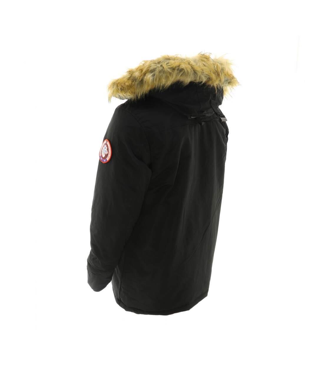 Parka Noire Col fourrure Homme Passenger's Brand