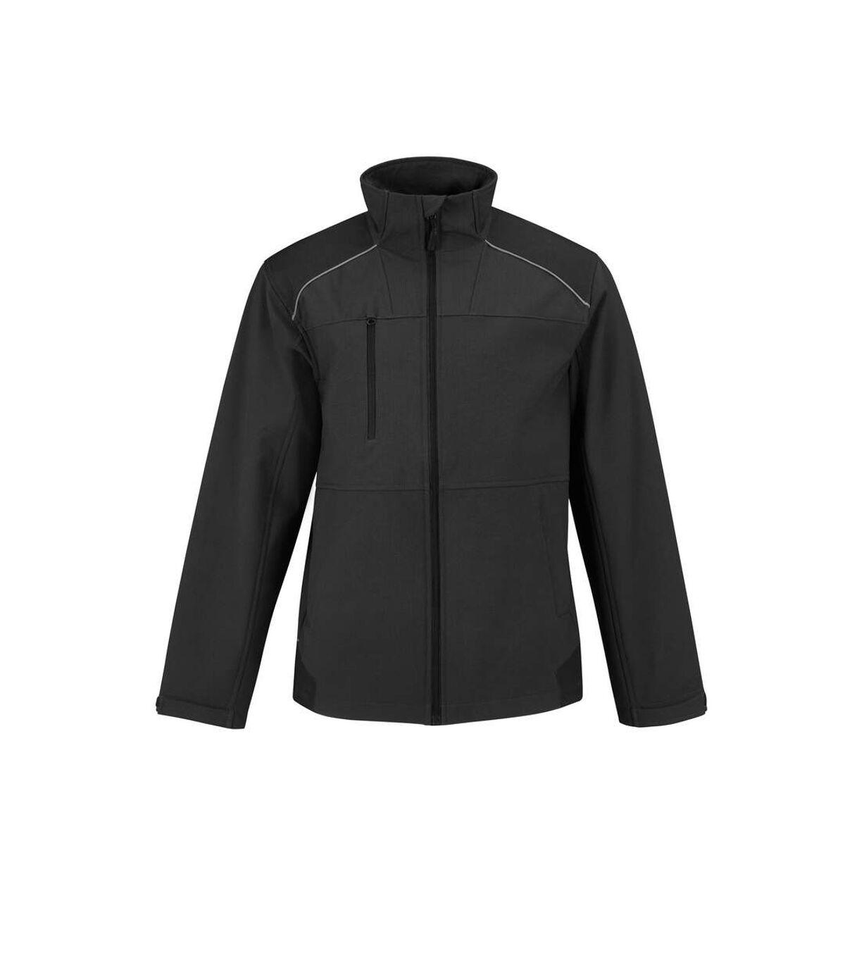 B&C Mens Shield Softshell Pro Jacket (Black) - UTRW4834