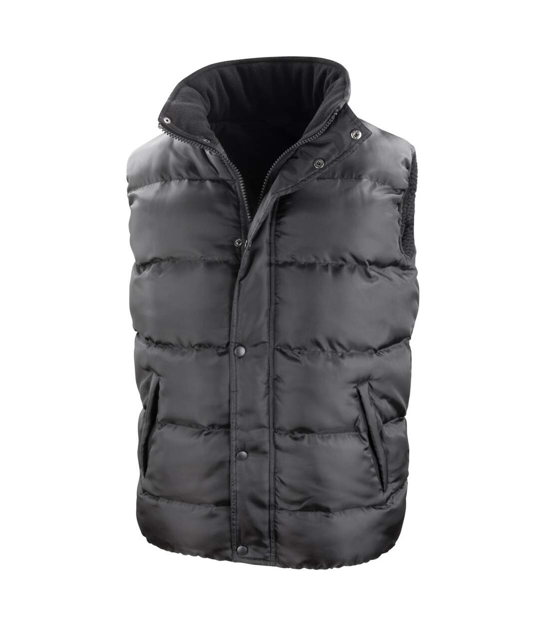 Result Mens Core Nova Lux Padded Fleece Lined Bodywarmer Jacket (Black) - UTBC2051