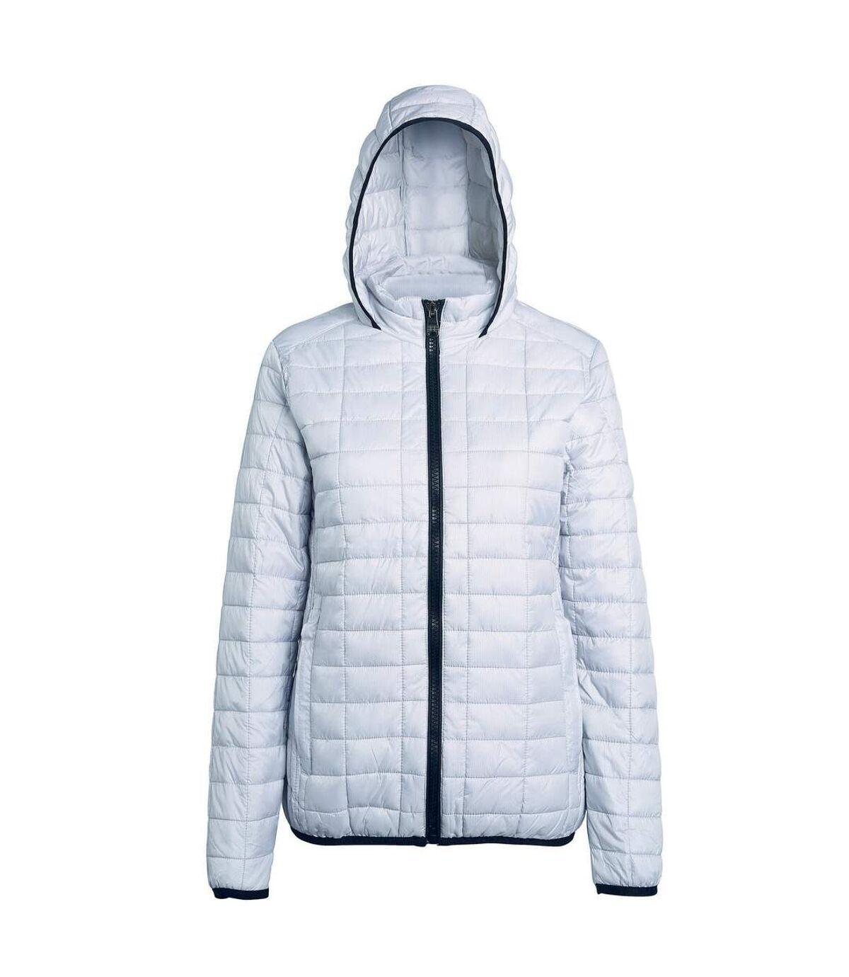 2786 Mens Honeycomb Padded Hooded Jacket (White) - UTRW5018