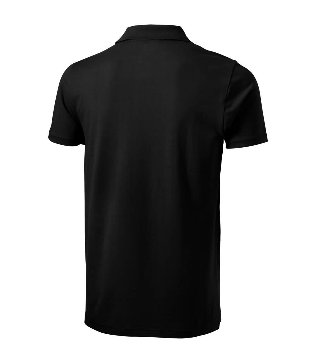 Elevate Mens Seller Short Sleeve Polo (Solid Black) - UTPF1825