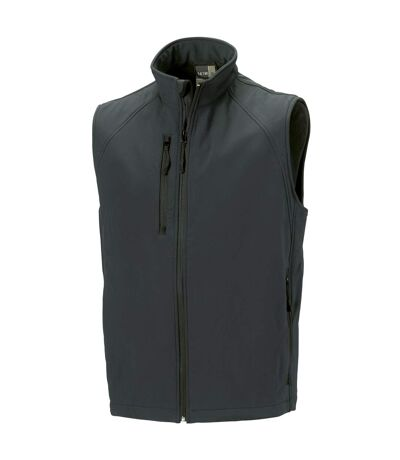 Russell Mens 3 Layer Soft Shell Gilet Jacket (Titanium) - UTBC1513