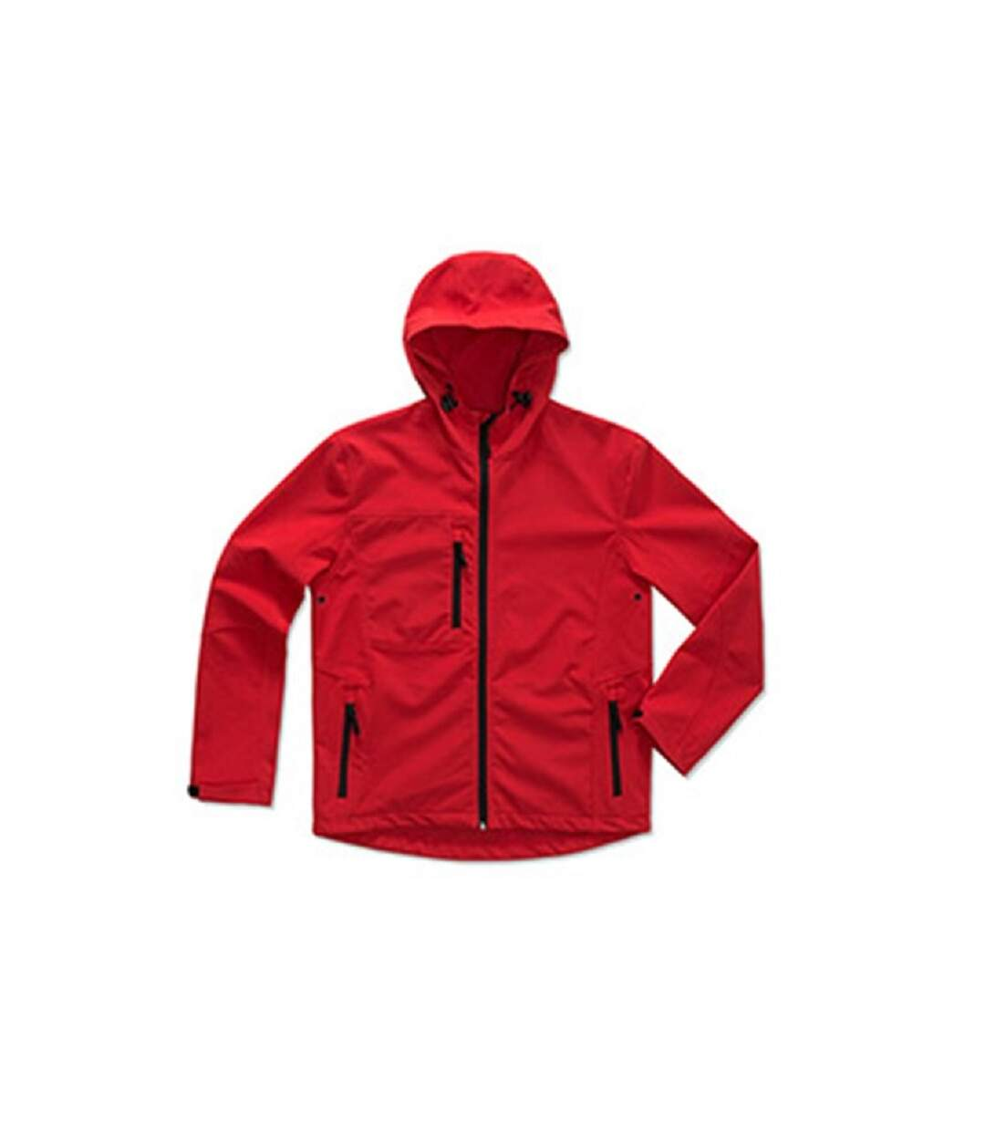 Stedman Mens Active Softest Shell Hooded Jacket (Crimson Red) - UTAB308