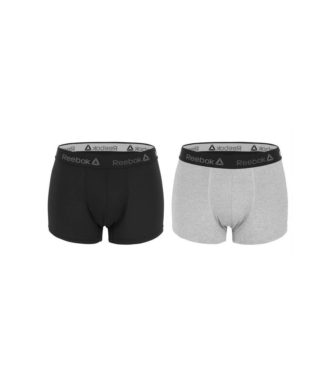 Lot de 2 Boxers Homme Reebok Basic Noir/Gris
