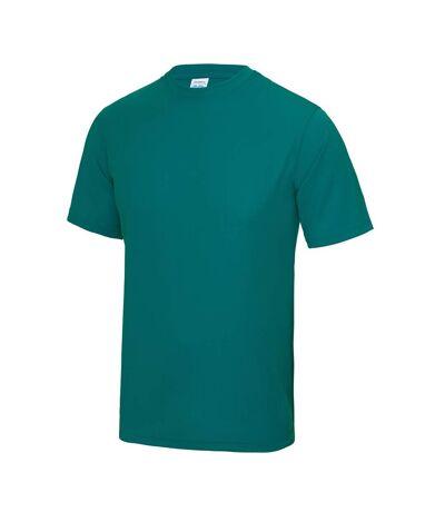 AWDis Just Cool Mens Performance Plain T-Shirt (Jet Black) - UTRW683